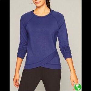 Athleta Abyss Criss Cross Long Sleeve Sweatshirt